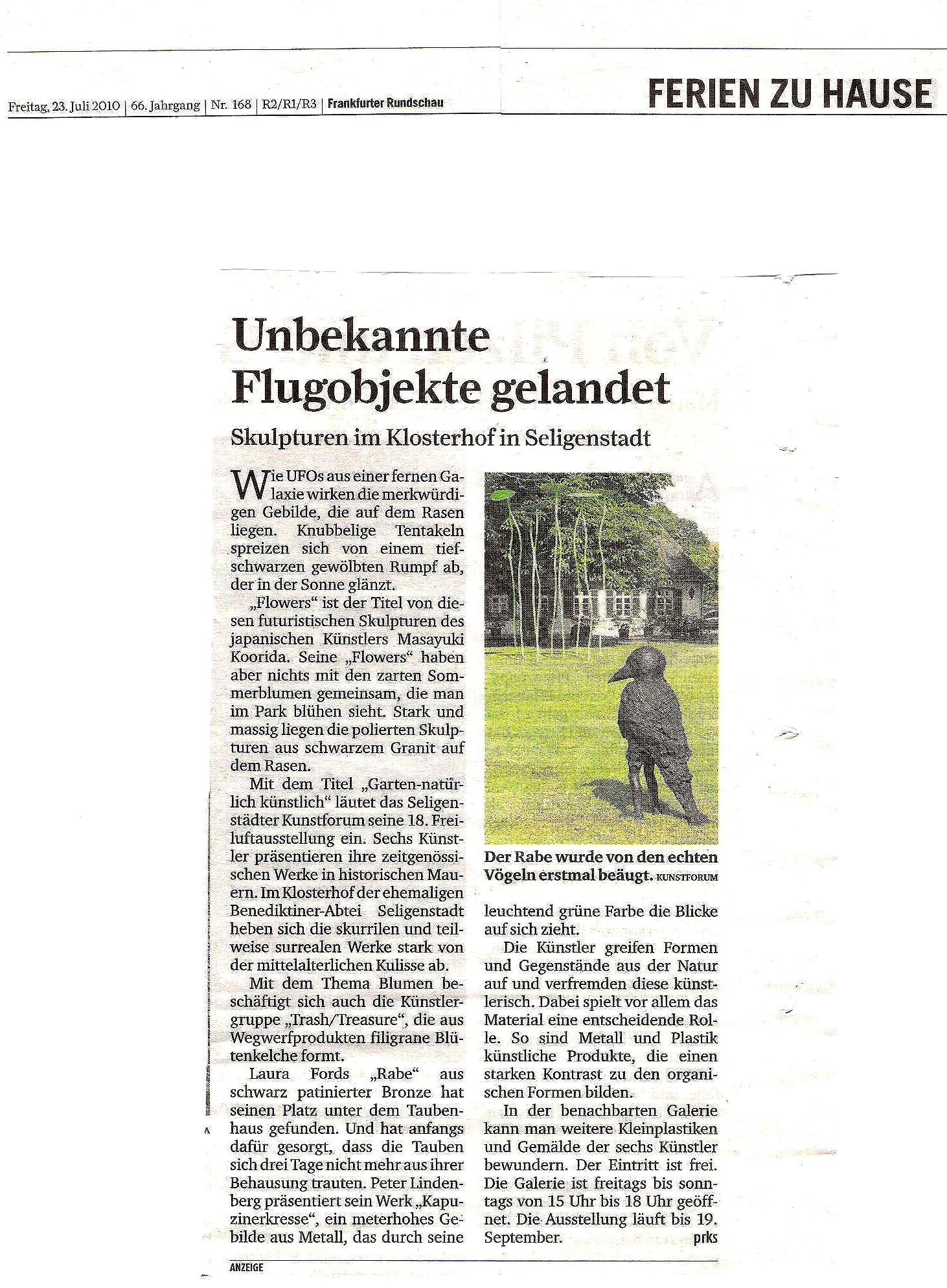 Artikel Rundschau 23.7.2010